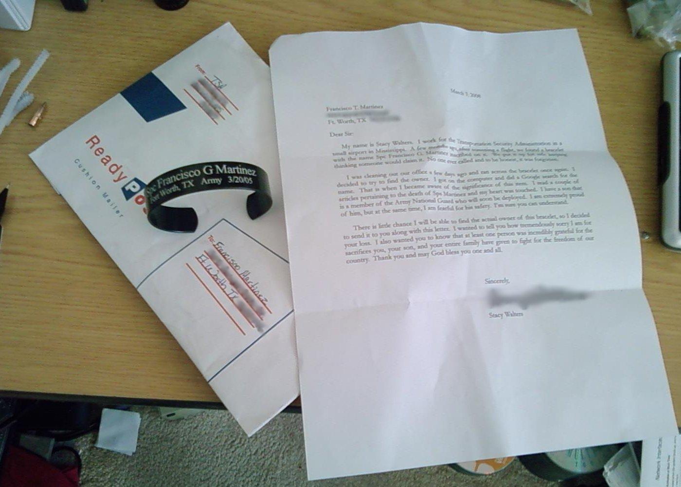 Bracelet and Letter Image